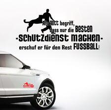 Auto Aufkleber SCHUTZDIENST Gott Hundesport Fußball Hund Hunde SIVIWONDER