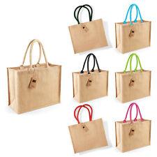 Westford Mill Jute Classic Shopper (W407) - Ladies Tote Natural Handbag