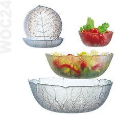 Blätter Schale Schüssel Glas Glasschüssel Stapelschale Salatschüssel Salatschale
