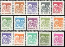 Albania  Without gum 15 Definitives, Mother Teresa, Nobel Prize,