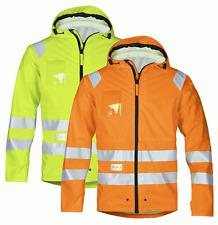 Snickers 8233 Hi-Vis PU Rain Jacket, Class 3