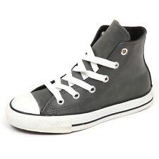 E4048 sneaker bimbo CONVERSE ALL STAR pelle leather grey shoe boy