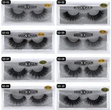 Mink Eyelashes Long Volume Strip Lash Wispy Popular Lashes Luxury 3D 1-5 pair UK