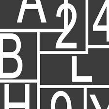 1x Buchstabe A bis Z 0 bis 9 12 cm weiß selbstklebende Folie Klebebuchstabe