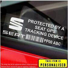 4 x Seat personalizzato segnalatore GPS-ADESIVI DI SICUREZZA-ALLARME-Tracker, AUTO