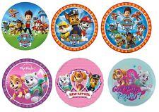 Paw Patrol Edible Kids Birthday Cake Icing Sheet Topper Decoration Round Images