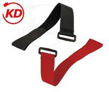 Klettbinder Kabelbinder mit Umlenköse schwarz rot 20 x 200 / 25 x 350 / 38 x 500