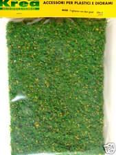 Manto erboso per modellismo verde con fiori gialli cm.30x15 - Krea 408
