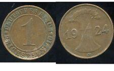 ALLEMAGNE 1 reichspfennig  1924 G