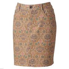 SONOMA life style Tannin Print Modern Fit Stretch Denim Skirt 6 10 14 16 NEW