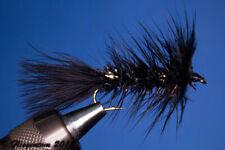 Fliegentom Streamer 3 pièces Wooley Bugger noir/Krystal