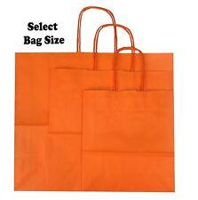 Orange Papier Sac Cadeau ~ Boutique Magasin Sac Soirée ~ Pic Taille S M L