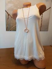 Laura Scott Damen Top Shirt Gr. 32 - 42 wollweiss NEU