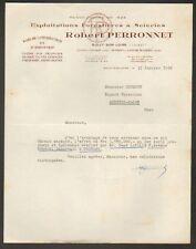 """SULLY-sur-LOIRE (45) SCIERIE / EXPLOITATION FORESTIERE """"Robert PERRONNET"""""""