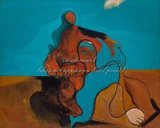 "MAX ERNST Surrealism Art Poster or Premium Canvas Print ""The Kiss"""