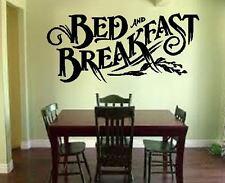 Bed and Breakfast  Kitchen B&B Hotel Vinyl wall art Decal Sticker