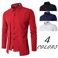 NEW Urban Mens Long Sleeve Blouse Casual Formal Slim Fit Shirt Top Dress Shirts
