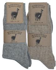 2 PAAR Wollsocken Alpakasocken Schafwollsocken 99% Wolle Gr. 35-46 MEDIUM
