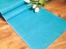 turquoise rustique Jute Baskets Marriage toile de Chemin table 30cm Large
