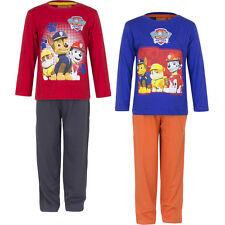 Neuf Vêtements de nuit Lot pyjamas enfants patte patrouille rouge bleu orange 98