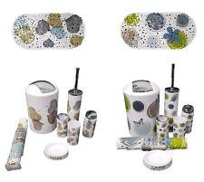 7pc Bathroom Accessory Set Bin Soap Dish Dispenser Toothbrush Tumbler Holder Mat