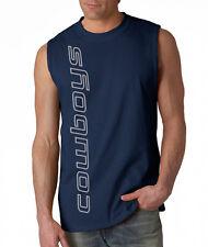 NEW Cowboys VERT SHIRT Sleeveless T-shirt LARGE XL 2XL Dallas Blue Wave