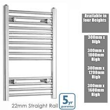 300mm Wide Chrome Straight Heated Towel Rail Warmer Bathroom Radiator All Sizes