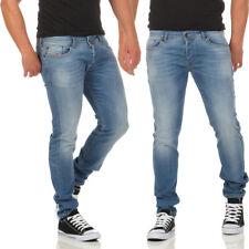 Diesel Jeans Sleenker 0852V Herren Hose Slim Skinny Hellblau Röhrenjeans NEU
