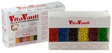 VitaVault 6 Compartment Pill & Vitamin Dispenser Organizer, Holds 60 days worth