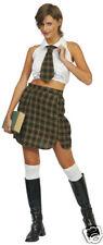SCHOOL GIRL SEXY FANCY DRESS HALLOWEEN COSTUME REDUCED FREE P+P UK SIZE 8-10