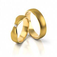 1 Paar Trauringe Hochzeitsringe Gold 333, 585 oder 750 mit Brillant 0,03ct.
