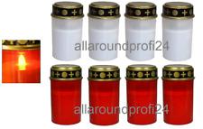4 - 8x LED Grablichter rot / weiß Grableuchten Grablicht Grabkerze Kerze