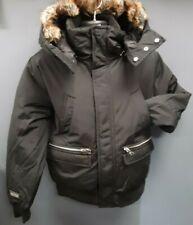Men's Piatra Goose Down Heavy Jacket/Coat with Detachable Fur and Hood - Black