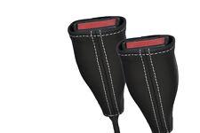 Punto Blanco Para Bmw Serie 3 E30 84-92 2x Asiento Delantero cinturón tallo sólo cubre