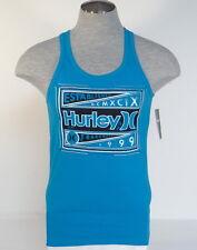 Hurley Signature Premium Fit Blue Tank Muscle Shirt Mens NWT