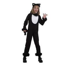 GIRLS KITTY CAT HALLOWEEN FANCY DRESS COSTUME