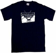 Boom Box 80's Radio Logo Men's tee Shirt PICK Size Small 6XL Color S/S L/S Tank