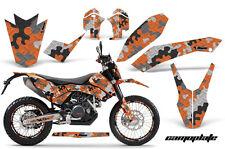 AMR KTM GRAPHIC KIT STICKER DEKOR 690 SM/ENDURO NUMBER PLATE BACKGROUNDS CAMO OR
