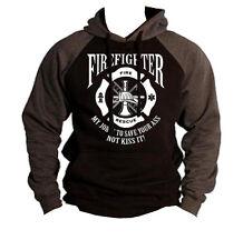 New Firefighter Save Ass Raglan Hoodie sweatshirt Rescue EMS fire fighter hero