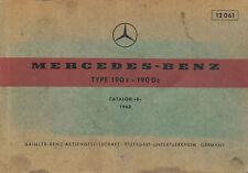Mercedes-Benz Typ 190 c Dc Catalog B 1963 Ersatzteilkatalog Teilekatalog Auto
