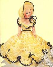 Vintage Crochet Shepherdess Doll Dress hat 8in Pattern