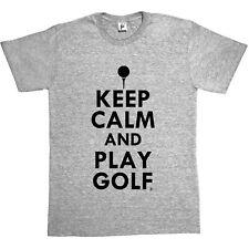 Keep Calm and Play Golf-Palla da Golf Da Uomo T-shirt