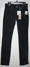 NWT Girls J Brand $110 Vintage Black Corduroy Pencil Leg Jeans Pants Size 12