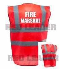Fire Marshal Printed Red Enhanced Safety Vest High Vis Waistcoat Hi Viz Office