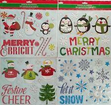 Christmas Holiday Metallic 3D Window Stickers Large, Select Theme