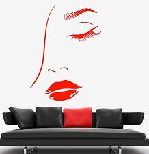 Wall Vinyl Decal Sexy Eyes Lips Hair Beauty Salon Barbershop Amazing Decor z3745