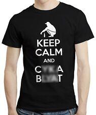Keep Calm And Cyka Blyat - T-shirt Tshirt Russian Gopnik Slav Slavic Gift Tee