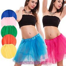 Sottogonna donna tutù gonna ruota tulle danza ballo vari colori nuovo CC-1455