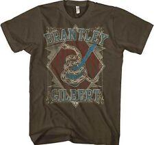 Brantley Gilbert Snake Coil Guitar Music Band Hunting Rock T Tee Shirt S-2Xl