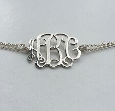 Personalised Monogram Bracelet,Initial Bracelet,925 Sterling Silver-HANDMADE !